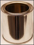 1/2 Pint Silver Can With Plug Tin Can With Lid