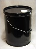 5 Gallon Black 0.5mm 24 GA   Insert 1/8 Vent in Body Steel Cans