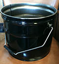 3.5 Gallon Black 0.4mm 26GA Steel Cans