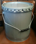 5 Gallon Gray 0.5mm-24ga. Steel Cans