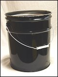 5 Gallon Black 0.5mm 24 GA Steel Cans