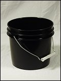 1 Gallon Black  Plastic Pail