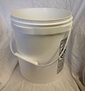 4.25 Gallon White With Plastic Handle Plastic Pail